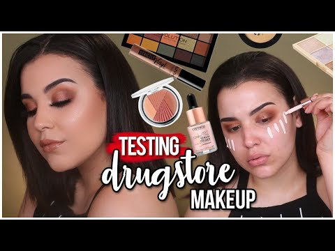 FULL FACE TESTING AFFORDABLE DRUGSTORE MAKEUP + FIRST IMPRESSIONS! | MakeupByAmarie