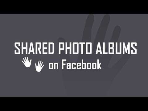 Make shared group Facebook Photo Album
