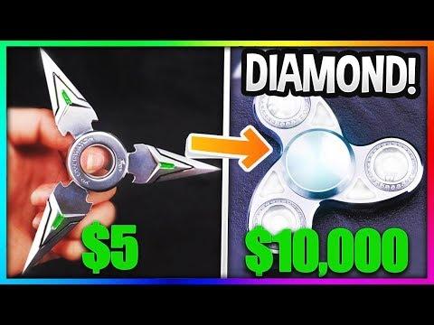$5 FIDGET SPINNER Vs. $5000 FIDGET SPINNER! (Insane Fidget Spinner VS Gold Fidget Spinner)