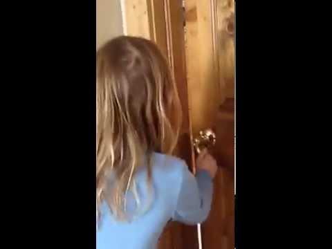 6year ole breaking into locked door with coat hanger