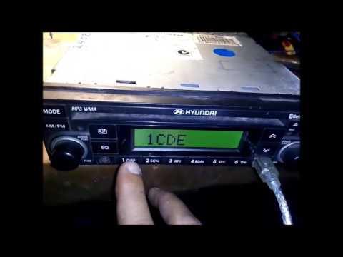 HYUNDAI MP3 05G sequrity code enter