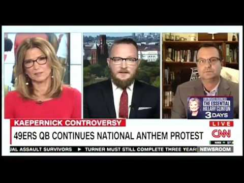 Shaun Rieley on CNN discussing Colin Kapernick's National Anthem protest
