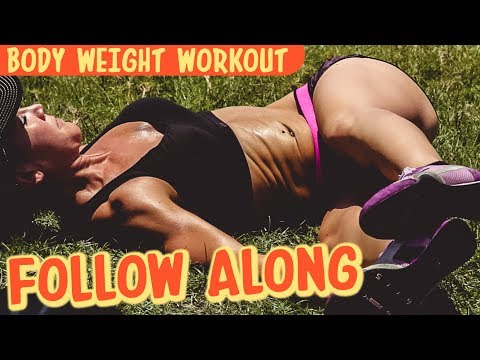 10-Min Follow Along Body Weight Beach WORKOUT | Episode III