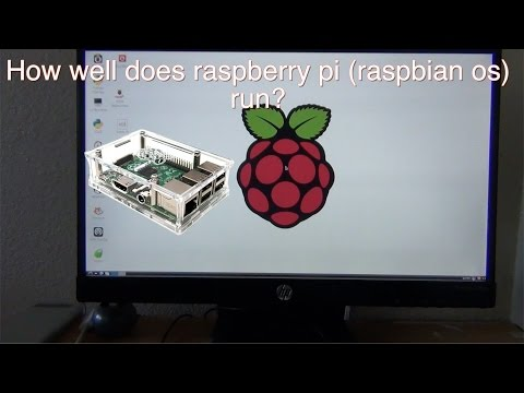How fast is raspberry pi B+ raspbian?