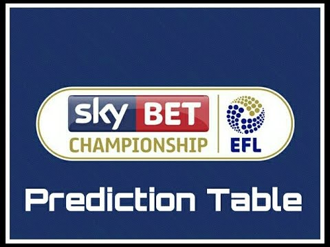 Sky Bet Championship league table prediction