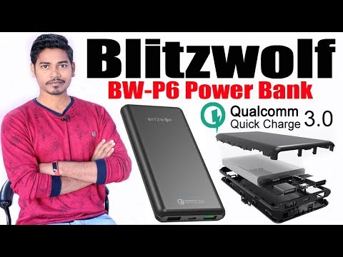 Fast Charging Power Bank BlitzWolf BW-P6 10000mAh | Qualcomm Quick Charging 3.0 | Unboxing & Review