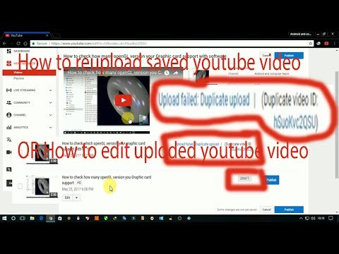 How to edit saved or uploaded youtube video without software