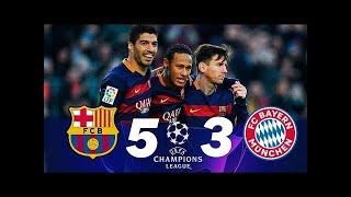 Barcelona 5 x 3 Bayern de Munique - melhores momentos (GLOBO HD 720p) Liga dos Campeões 2015