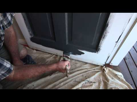 How to paint a panel door. Paint by numbers makes it easier!