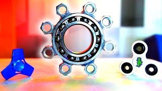 Download WORLD'S BIGGEST HAND SPINNER FIDGET TOY! How to Make DIY Spinners! Video
