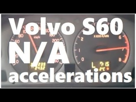 Volvo S60 2.4 non turbo accelerations and revving with the Aisin transmission