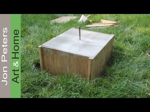 Make a Form & Cast a Concrete Base for a Sculpture