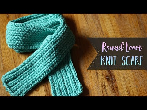 How To Loom Knit A Scarf - E-Wrap, Purl & Slip Stitches for Beginners