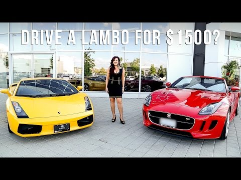 HOW TO DRIVE A LAMBORGHINI FOR $1500 CAD A MONTH?