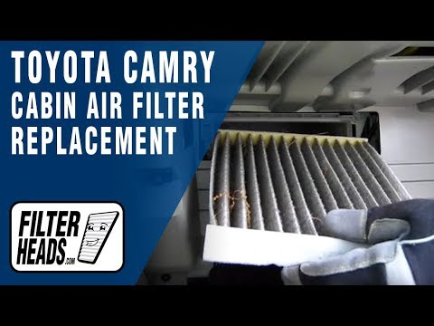 How to Replace Cabin Air Filter Toyota Camry