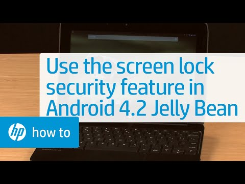 Using the Screen Lock Security Feature in Android 4.2 Jelly Bean
