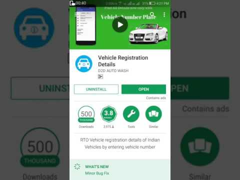 top app for vehicle status registration.