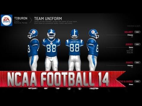 NCAA Football 14 Team Builder | How to Create Custom Uniforms
