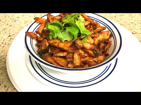 Cooking - Chamadumpa fry -Taro Chips