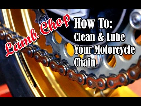 How To Clean And Lube A Motorcycle Chain