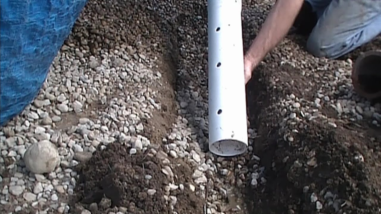 How To Install Perforated Pipe, French Drain for Do It Yourself Job