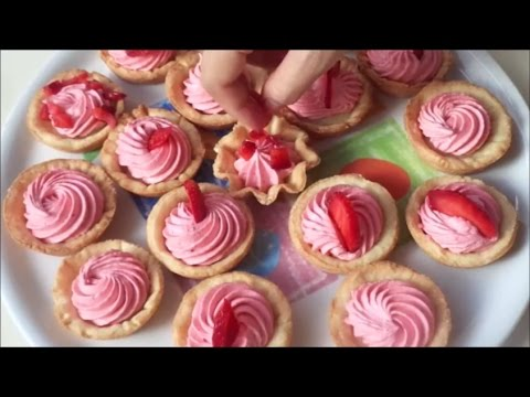 How to make mini tarts dough and strawberry filling.