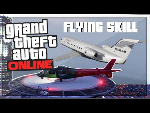 How To Max Your Flying Skill *FAST* In GTA 5 Online !