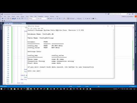 Create SQLite database programmatically using VB.NET - Visual Studio 2015