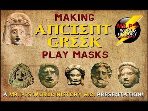 Making Ancient Greek Masks (w/Mr.  P.)