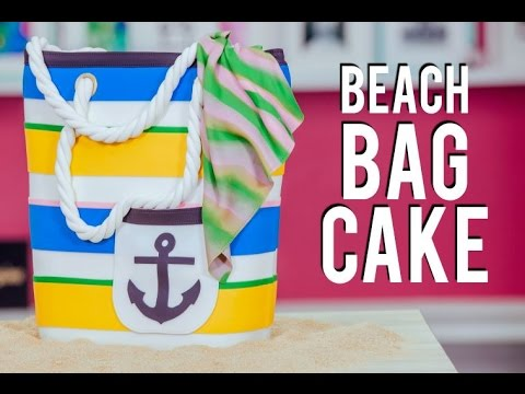How To Make a BEACH BAG CAKE! Chocolate & Vanilla Cake for LaurDIY's Party!
