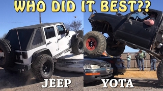 JEEP vs. TOYOTA - WHO DID IT BEST??
