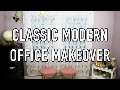 Classic Modern Office Makeover - HGTV Handmade