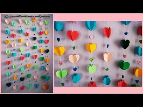how to make easy paper wall hanging