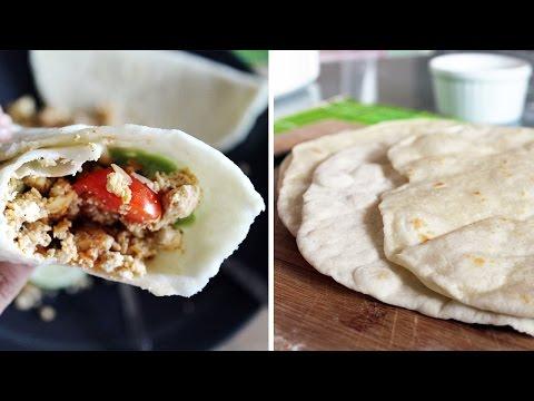 Quick & Easy Vegan Flour Tortillas