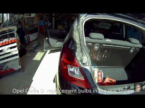 Opel Corsa D   How to replace rear tai light