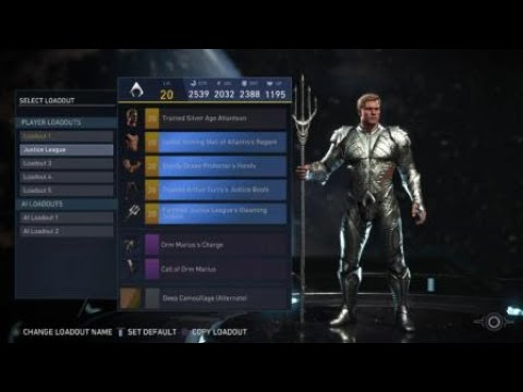 Injustice 2 unlocked all Aquaman Epic Gear from Justice League Movie event!
