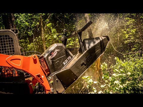 Mulching Trees in Seconds - Vail X Mulcher
