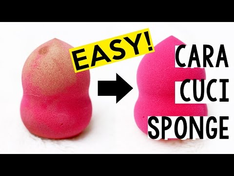 Cara Membersihkan Sponge / Beauty Blender | How to Clean Beauty Sponges | Kiara Leswara