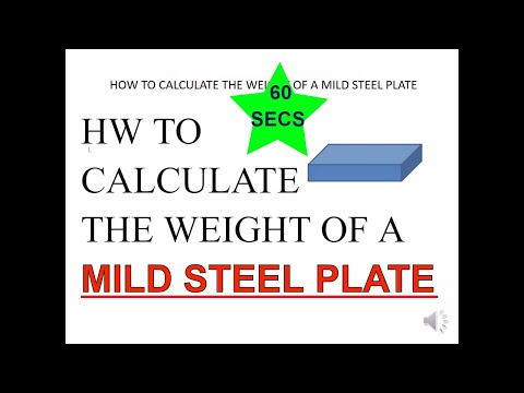 How To Calculate Weight Of Mild Steel Plate in 60 secs