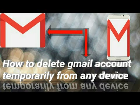 How to delete gmail account temporarily from any phone ( easy and without root)