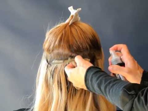 How to remove tape hair extensions that has liquid gold glue on it, hair wefting tape.com