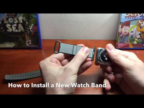 HOW TO CHANGE APPLE WATCH BANDS!! & Apple Black Nylon Band [Review]
