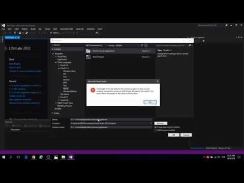 Visual C++ 2012 BÖLÜM 1  Konsol Uygulaması 1 (PART 1 Console Application 1)  Visual Studio 2012