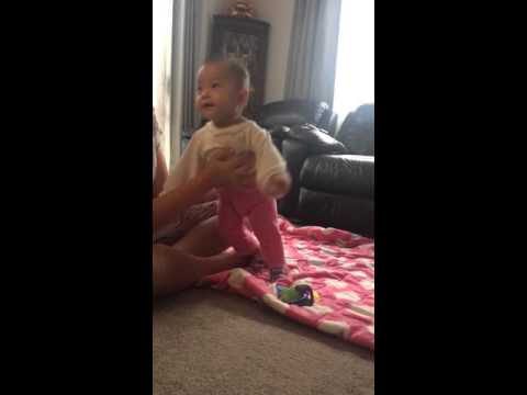 When your baby dances to Dr Dre's music
