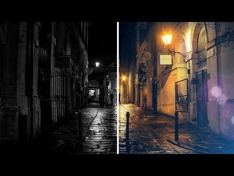 Adding light effect : Photoshop tutorial
