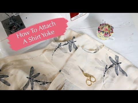 Tutorial: How to attach a shirt yoke