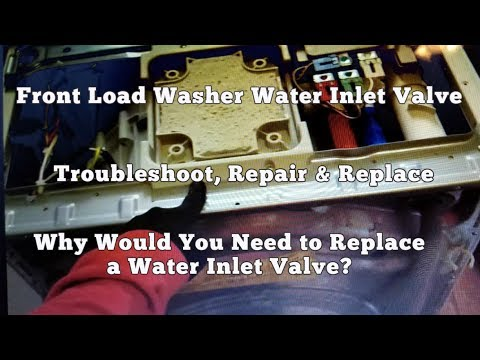 Front Load Washer Troubleshoot & Repair - Leaking Water - How to Replace Inlet Valve (Electrolux)