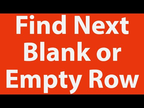 Find Next Empty Row for Data Entry using Excel VBA