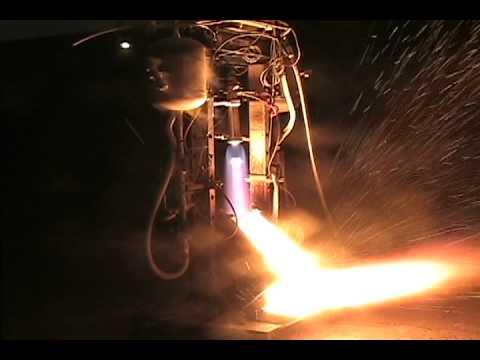 Liquid oxygen and alcohol rocket engine 2005/10/22
