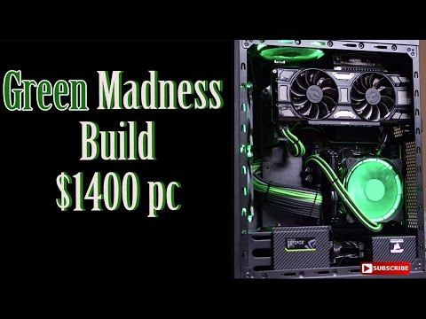 Thermaltake G3 $1450 Gaming Pc | Green Madness Build